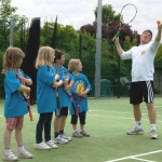 Primary school tennis coaching