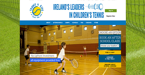 childrens tennis website